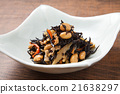 煮熟的海带 深色可食用海苔 炖 21638297