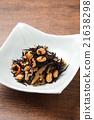 煮熟的海带 深色可食用海苔 炖 21638298