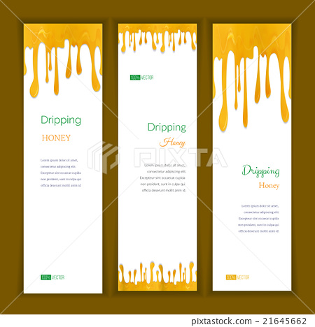 Set banners with clorful seamless dripping pain 21645662