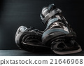 Pair of skates on the dark background horizontal 21646968