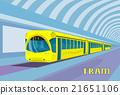 Subway Tram Modern City Public Transport 21651106