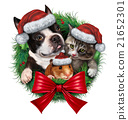 Pets Holiday Wreath 21652301