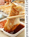Delicious Chinese food - fried dumplings      21653314