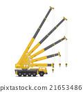Mobile crane vector 21653486