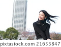 Young lady with straight long hair 21653847