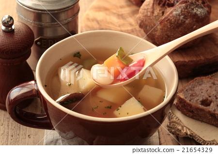 汤 蔬菜 烹饪 21654329