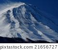 富士山 积雪 粉状的雪 21656727