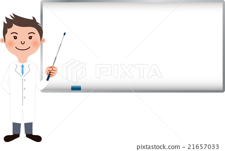A white girl young man explaining with a white board waiting for a pointer 21657033