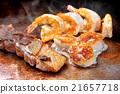 Japanese teppanyaki fried seafood mix 21657718