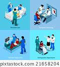 isometric, patient, doctor 21658204