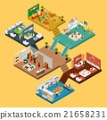 Shopping Mall Isometric concept 21658231