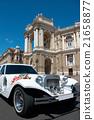 Wedding luxury white limousine  palace 21658877