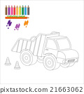 Coloring page with big truck 21663062