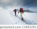 Two elderly alpine skiers 21663261
