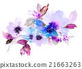 Flowers watercolor illustration 21663263
