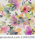 Abstract watercolor flowers. Seamless pattern. 21663266