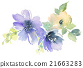 Flowers watercolor illustration 21663283