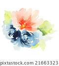 Flowers watercolor illustration 21663323