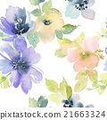 Seamless pattern with flowers watercolor 21663324