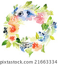 Flowers watercolor illustration 21663334