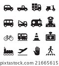 Traffic icon set 2 21665615