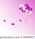 Arrangement of orchid flowers and pearls  21668067