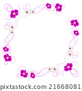Delicate frame with orchid flowers  21668081