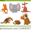 cartoon wild animals set 21668507