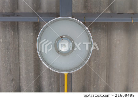 fluorescent lamp on the modern ceiling 21669498