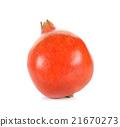 Whole pomegranate isolated on white background 21670273