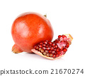 Whole pomegranate isolated on the white 21670274