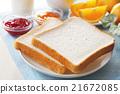 早餐 麵包 白麵包 21672085