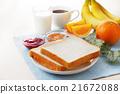 早餐 麵包 白麵包 21672088