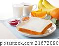 早餐 麵包 白麵包 21672090