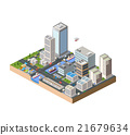 Isometric in a big city 21679634