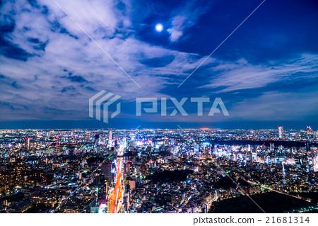 Night view of Tokyo 21681314