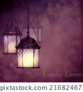 Intricate Arabic lamps with lights  21682467