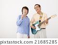 演奏 老人 电子吉他 21685285