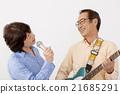 演奏 老人 电子吉他 21685291