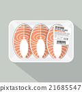 Salmon Sliced Pack Vector Illustration. 21685547