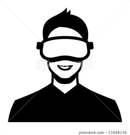 Virtual Reality Headset Icon. Vector 21688136