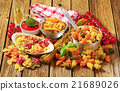 Assortment of colored pasta 21689026