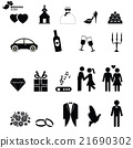 Wedding icons set 21690302
