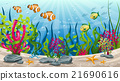 Illustration of underwater landscape with fish 21690616