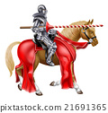 Medieval Lance Knight on Horse 21691365