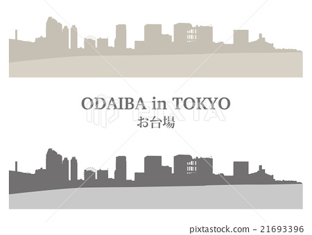 """Illustration material """"Odaiba's building group"""" 21693396"""