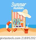 해변, 여름, 섬 21695202