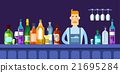 Bar Counter Barmen With Alcohol Drink Glasses 21695284