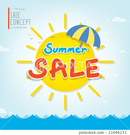 Summer Sale heading design for banner or poster. - Stock ...