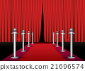 Magic red carpet loop with red curtain 21696574